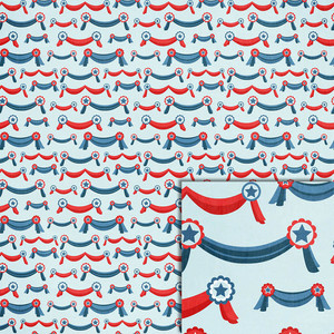 patriotic banners background paper
