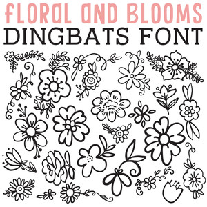 cg floral and blooms dingbats