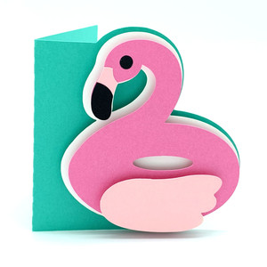 flamingo float card