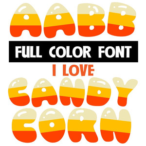 i love candy corn font
