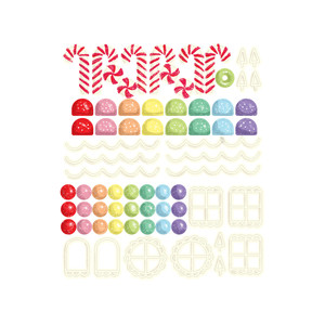 print and cut gingerbread candy stickers