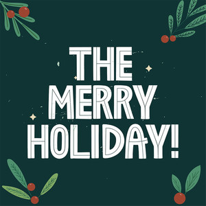 the merry holiday font