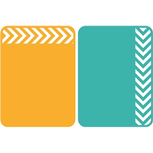 3x4 life cards chevron strip