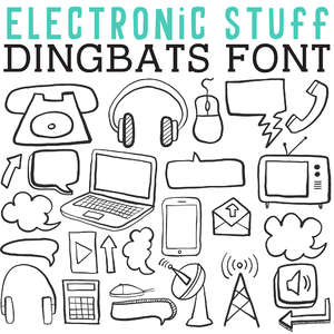 cg electronic stuff dingbats