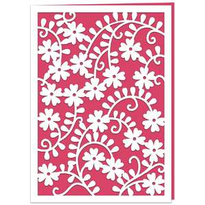 wild rose lace card