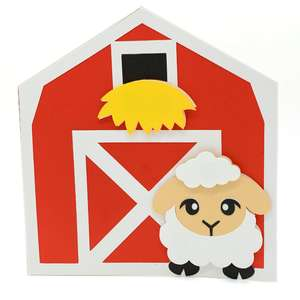 sheep and barn card