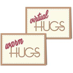 virtual warm hugs cut out a6 card