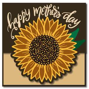 happy mother's day sunflower card