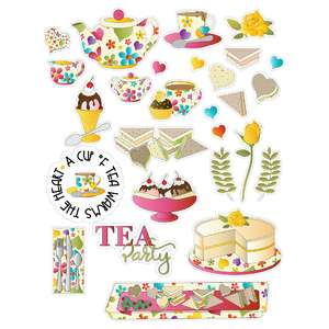 sandwiches and tea party planner stickers
