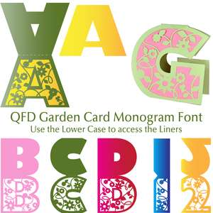 qfd summer flower card monogram font