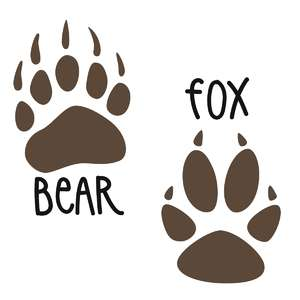 bear and fox prints