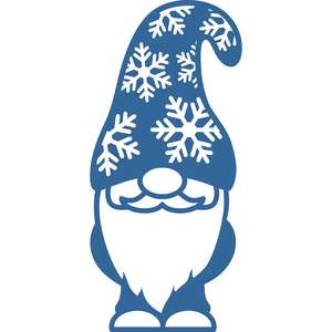 gnome with snowflakes hat