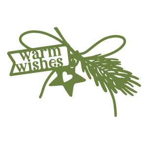 warm wishes label