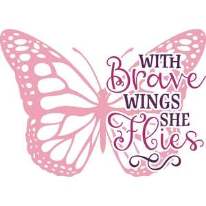 with brave wings she flies butterflies