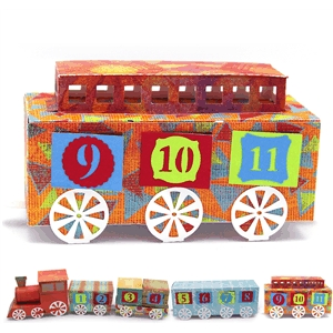 3d advent calendar train caboose