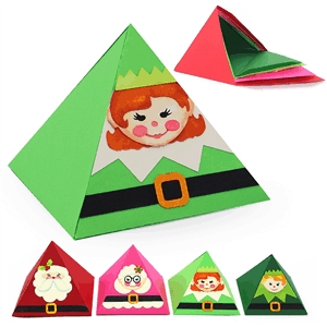 3d pyramid nesting girl elf box