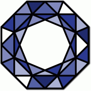 stained glass octagon gem