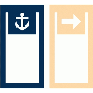 set of 2 anchor and arrow paperclips
