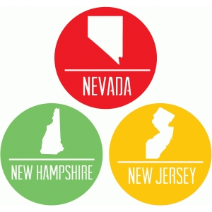 state badges - nv nh nj