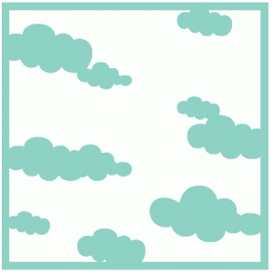reverse clouds mask / template