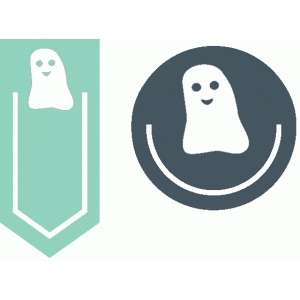 set of 2 ghost paperclips
