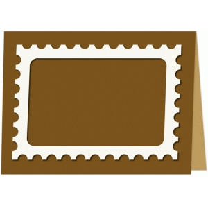 stamp place card
