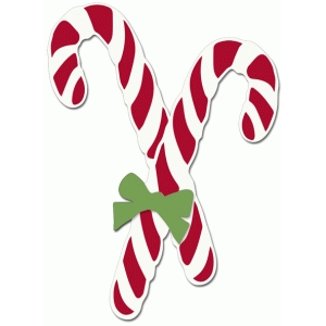 candy cane and bow