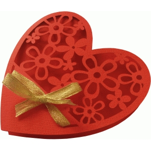 heart shape card