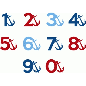 nautical alphabet - numbers