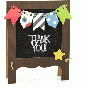 a2 thank you chalkboard easel card