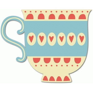 tea cup with hearts