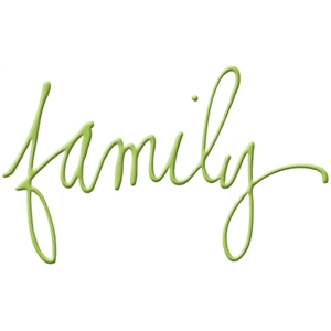 family handwritten word