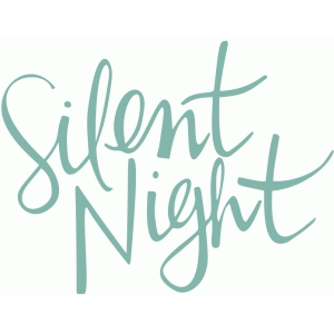 silent night handwritten