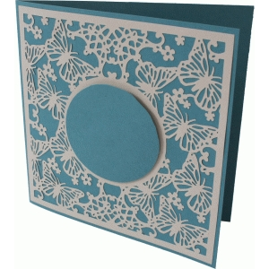 butterfly lace square card