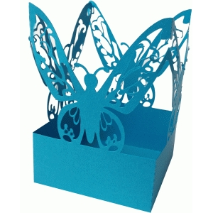 butterfly square favor box