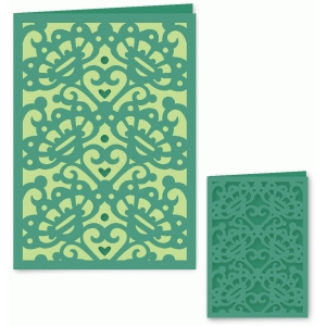 fancy dancy floral card with liner