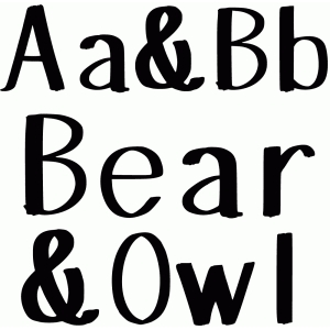 bear and owl font