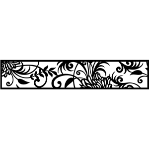 abstract border rectangular flourish