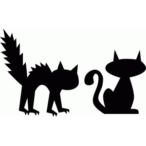 halloween cat silhouettes