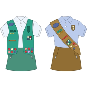 scout - girl uniform