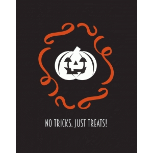 no tricks just treats print and frame
