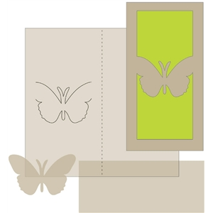money holder card - butterfly