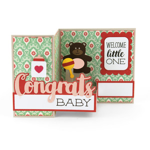 pop up box card baby