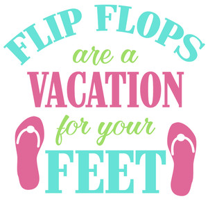 flip flops vacation for feet