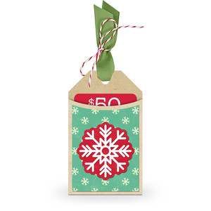gift card holder tag snowflake