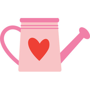 heart watering can