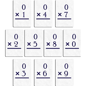 flashcard - multiply 0