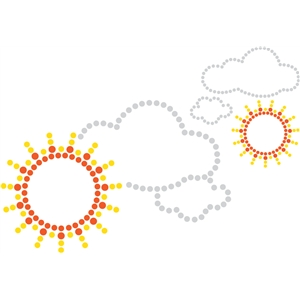 sun and clouds rhinestone
