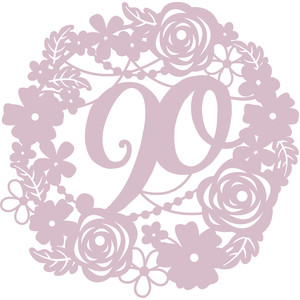 floral 90 birthday wreath