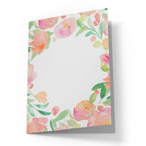cute blank watercolor flower card